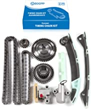 ECCPP TK3043 Timing Chain Kit Tensioner Guide Rail Shaft Sprocket Replacement for 07-14 Nissan Sentra Versa 1.8L 2.0L DOHC MR20DE