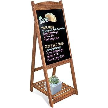 unho Pizarra de Pie de Madera Pizarra Vintage con Estante de Flores Escalera Decorativa con Pizarra para Cafetería Restaurante Librería Bar Hogar Color Marrón: Amazon.es: Hogar