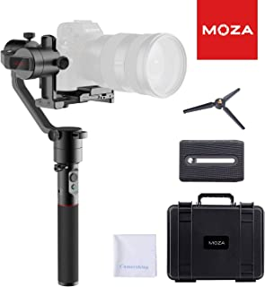 MOZA AirCross 3-Axis Handheld Gimbal Ultra-Lightweight Portable Camera Stabilizer Support Unlimited Power Source Long-Exposure Timelapse Auto-Tuning for Parameters for Mirrorless Cameras up to 4lb