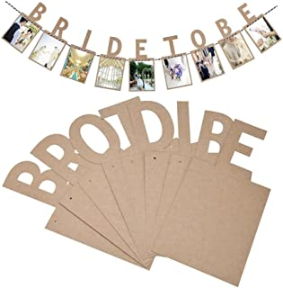 Veewon Bride To Be banderines Banner marco de fotos álbum de fotos de estilo vintage banners guirnalda favor decoración