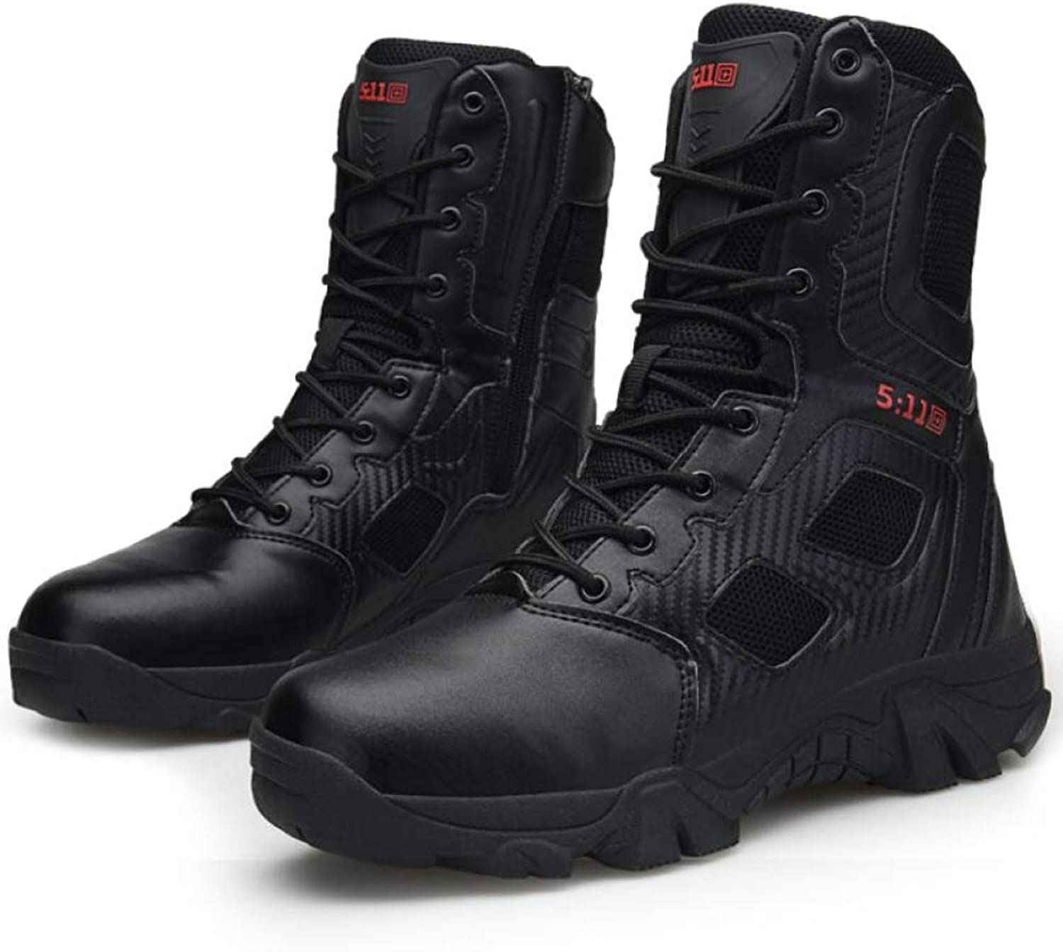 Winter Men's Boots Warm Lined Non Slip High Top shoes Outdoor Hiking Ankle Sneakers Size:40-45