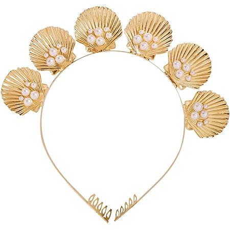 Ivory and Gold Seashell Nylon Headband Preemie Headband Nylon Headband Seashell Headband Seashell Hairbows Newborn Headband Beach Baby