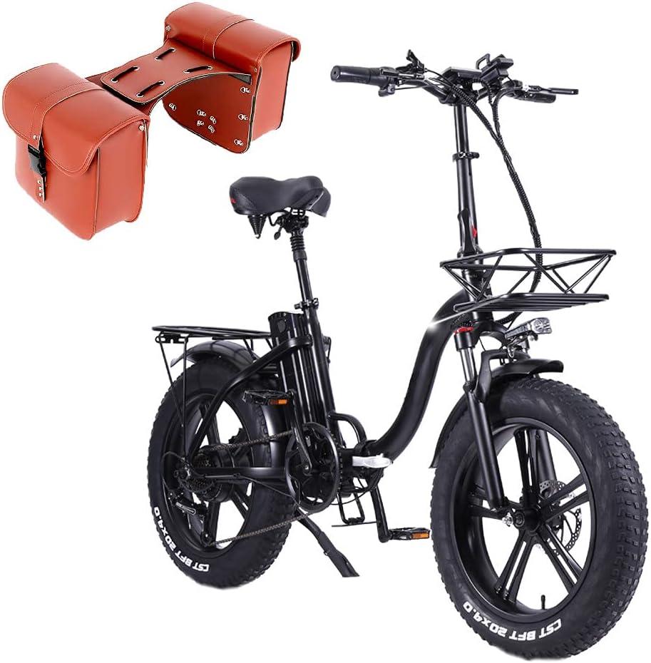 Y20 750W Bicicleta Eléctrica Plegable, Batería Extraíble de 48V 15Ah, Shimano 7 Velocidades E-Bike MTB, Freno de Disco Delantero y Trasero, Velocidad Máxima de 45km/h [EU Warehouse]