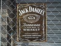 アメリカ看板 ジャックダニエル(MS1544) JACK DANIEL'S ロゴ サインプレート ジャックダニエル看板 ブリキ看板 ラベル ウイスキー お酒