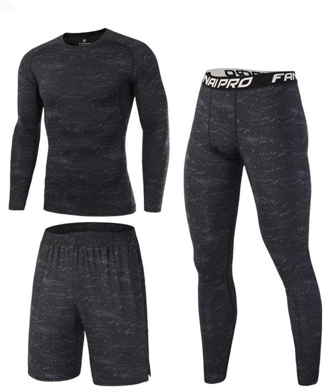 36bdc770fde4b 3 Pcs Fitness Gym Clothing Set,Men Activewear,Base Layers Shirts+ ...