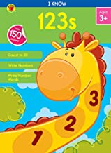 Carson Dellosa – I Know 123s Workbook for PK, 1st Grade, 64 Pages with Stickers, Ages 3+