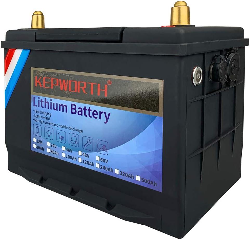 Lithium LiFePO4 Battery 12V Max 40% OFF 40Ah Seasonal Wrap Introduction iron p Cycle Deep 512Wh
