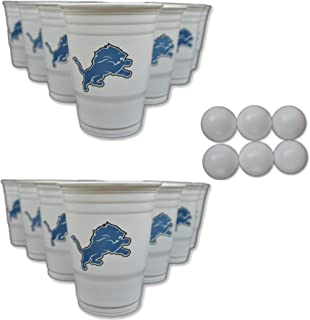 Siskiyou/Sport Mania NFL Fan Shop Beer Pong Set. Rep Your Favorite Team with The Classic Game of Beer Pong at Home or at The Tailgate Party - Comes with 22 Cups and 6 Ping Pong Balls