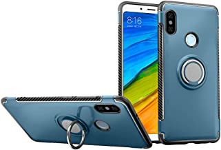 Xiaomi Redmi Note 6 Pro Case DWaybox Hybrid Back Case with 360 Degree Rotation Ring Holder for Xiaomi Redmi Note 6/Redmi Note 6 Pro 6.26 Inch Compatible with Magnetic Car Mount Holder (Navy)