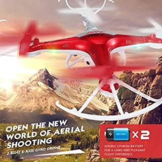 VITHCONL Drone for Kids, H97 2.4GHz 4CH 6-Axis LED with Camera RC Quadcopter Drone RD(Ship from USA)