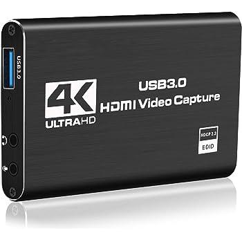 Allead HDMIキャプチャーボード ゲームキャプチャー ビデオキャプチャー 4K 60HZパススルー対応 HDR対応 USB3.0 HD1080P 60FPS録画 低遅延 軽量小型 PC/Switch/PS4/Xbox/PS3/携帯電話用 Windows Linux OS X対応 OBS Potplayer XSplit適用 YouTube/Twitchなどにゲーム録画・実況・配信・ライブ会議用 2年の保証期 【2020最新バージョン】