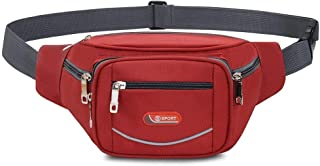 YWSCXMY-AU Women Men Waist Pack Large Capaicty Bag Fashion Belly Bag Travel Hip Pocket Bag Fanny Pack (Color : Red)