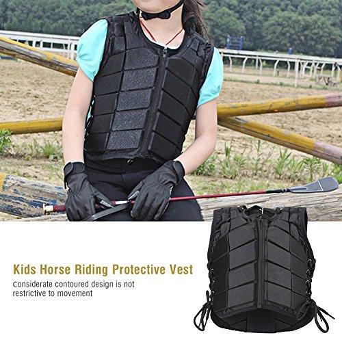 Zerone Rückenprotektor,Für Kinder Reitschutzweste Reiter Sicherheitsweste Körperschutz und Protektor Komfort und leicht Unbegrenzte Aktionen (Größe optional) (cm)