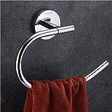 Wangel Toalleros de aro para baño, Toallero Anilla 200mm Montado en la Pared, Acero Inoxi...