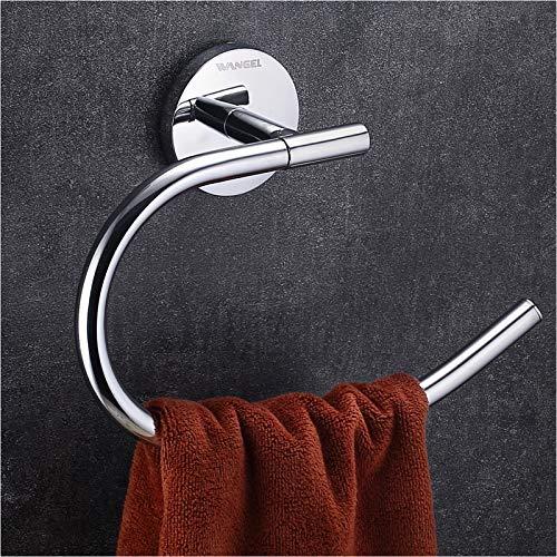 Wangel Handtuchring Handtuchhalter für Handtücher, Wandhalterung mit Schrauben, Edelstahl, Verchromt