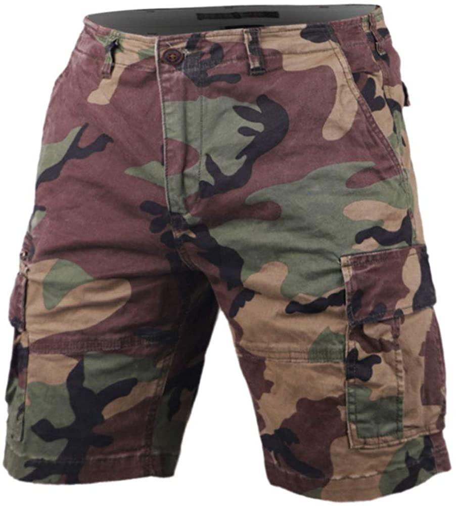 Men's Vintage Cargo Financial sales sale Shorts Multi Loose Fit Pocket Relaxed Camouf Super Special SALE held