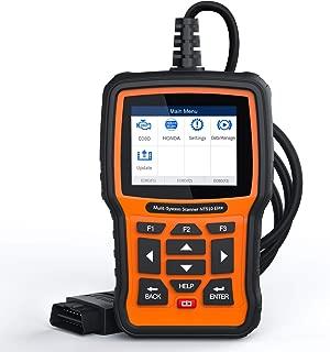 FOXWELL NT510 Elite OBD2 Bi-Directional Scan Tool for Honda Acura All System Diagnostics ABS SRS Transmission Battery Registeration ABS Bleeding TPS SAS TPMS DPF CVT CKP EPB Oil Reset.(2019 Version)