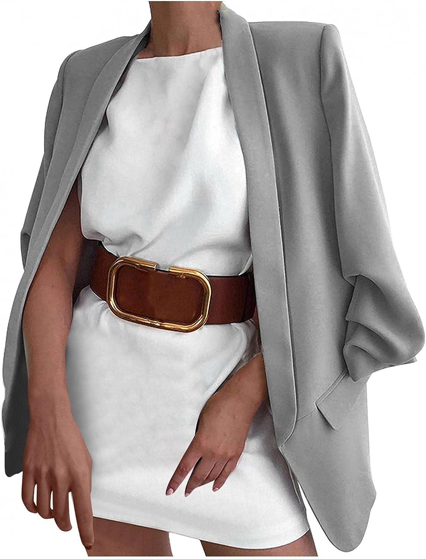 Women's Work Office Blazer Fashion Sleeve Front 4 years warranty Cardig Long Open Max 78% OFF