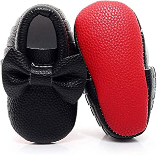 Tassel Bow Baby Moccasins - Boys and Girls Shoes for Infants, Babies, Toddlers