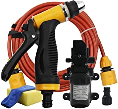 CHUIR Portable Electric Car Washer Machine 12V High Pressure Gun Water Pump Device Auto Cleaning Kits