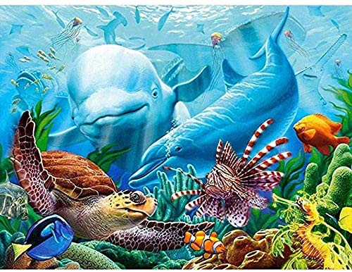 ZPC Wooden Puzzles 1000 Piece for Kids Jigsaw Puzzle - Underwater Landscape Picture Adult Puzzle Toys Best Gift for Children No Glue Required
