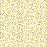 MyTinyWorld 5 Stück Puppenhaus gelb Rosen Tapete Blätter
