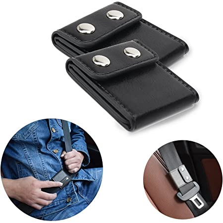 Lock and Go Slide Prevents Sense of Choking While Driving or Riding in Cars Universal 4-pk Seat Belt Tension Adjuster - Relieves Irritation