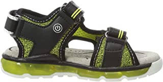 GEOX Boys' J Sandal Android Open Toe, Yellow (Lime/Black C3707), 3 UK Child