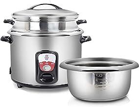 Rijstkoker en stoom-warm-functie (5/6,5l) 304 roestvrij stalen voering met spatel en maatbeker, voor 4-8 personen (maat: ...