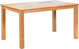 acerto 30121 Table de Salle à Manger en hêtre Massif, 140 x 90 cm * Huile de Cire Dure * Extrêmement Robuste * Table en hê...