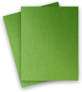 PaperPapers Metallic 8.5X11 Letter Size 32T Specialty Paper, Lightweight foldable multi-use - Green Fairway,25-PK