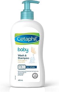Cetaphil Baby Wash & Shampoo with Organic Calendula, 400 milliliters
