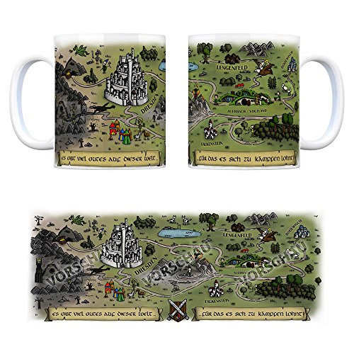 trendaffe - Auerbach/Vogtland Fantasy Kaffeebecher - eine Tasse als Geschenk zum Geburtstag für alle die Rollenspiele lieben!