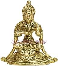 Om Pooja Shop Annapurna Devi Murti in Brass   Hindu Goddess Annapurna Sculpture