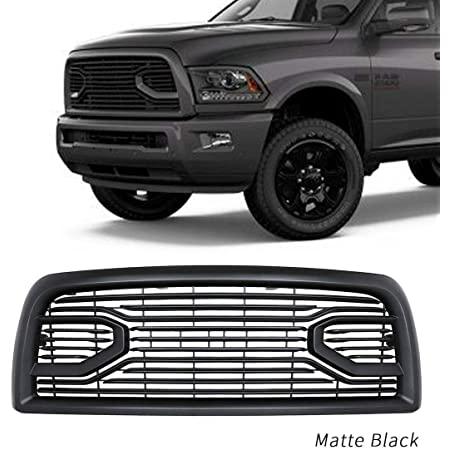 NO7RUBAN Front Grill for Dodge 2500 3500 2013-2018 Ram Upper Bumper Grille Big Horn Style Chrome