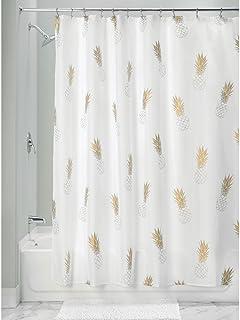 dise/ño de coraz/ón Cortina de ducha y cortina para ventana Walkretynbe beige