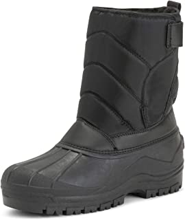 Mens Muck Nylon Strap Lace Up Duck Snow Winter Flat Rain Outdoor Boots