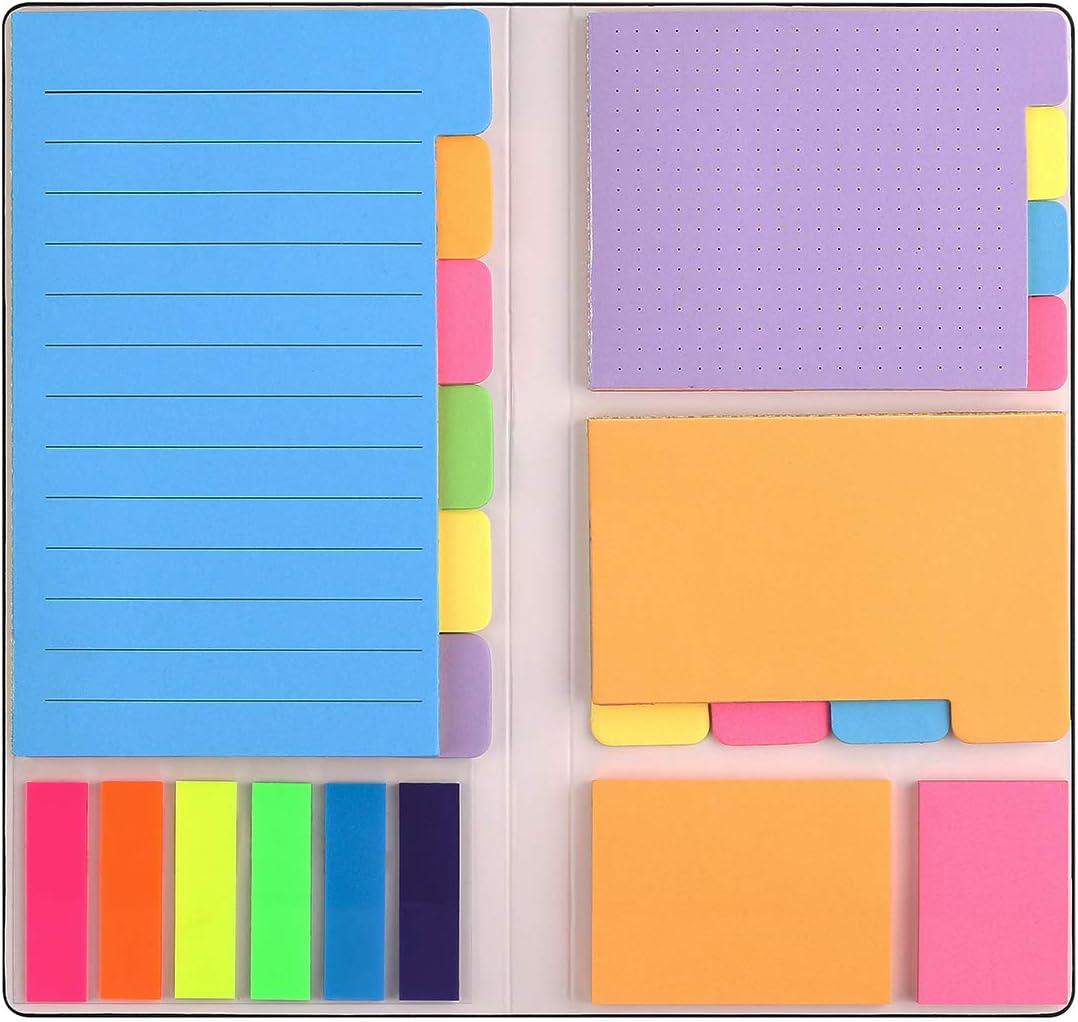 Sticky Notes Set Divider Regular dealer Self-Stick Bundle Pads Boston Mall Book with