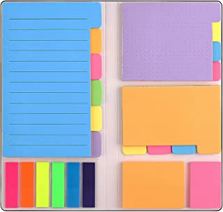 Sticky Notes Set with Bookmark Index for Planner Bullet Journaling Notebook Textbook Calendar, 402Pcs Divider Sticky Notes...