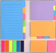 Sticky Notes Set, Divider Self-Stick Notes Pads Bundle with Bookmark Index for Planner Bullet Journaling Notebook Textbook...