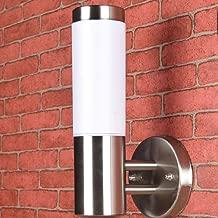 Lámpara de pared de interior de lujo de acero inoxidable de estilo moderno lámpara de pared de lámpara de porche al aire libre