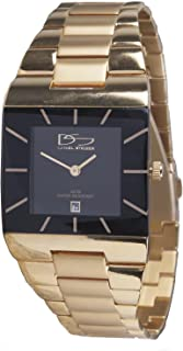 Gold Men's Watch - Classic Square Dial Design - Water Resistant - Precision Quartz Movement - Designer Wristwatch Stylish Classy