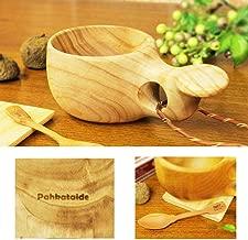 北欧フィンランド木製 本物ククサ Kuksa Pahkataide(パッカタイデ)白樺のコブ使用 説明書 箱包装 木製ヴィンテージスプーン付き