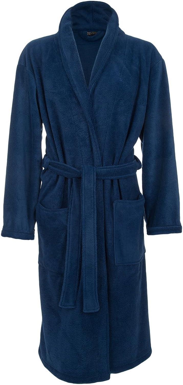 John Christian Men's Fleece Robe, Royal blueee