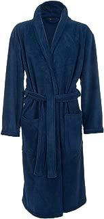 Men's Fleece Robe, Royal Blue