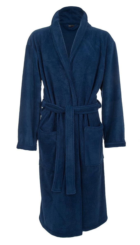 John Christian Men's Fleece Robe, Royal Blue