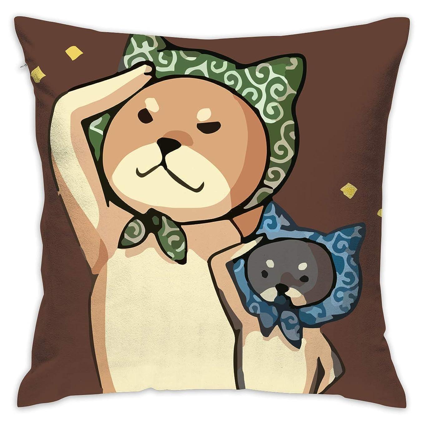 プールだます一掃する?柴犬まる 敬礼 ペット 可愛い オリジナル 抱き枕 クッション 座布団 柔らかい 低反発 オフィスにもピッタリ 中身:綿 ギフト プレゼント 45*45cm