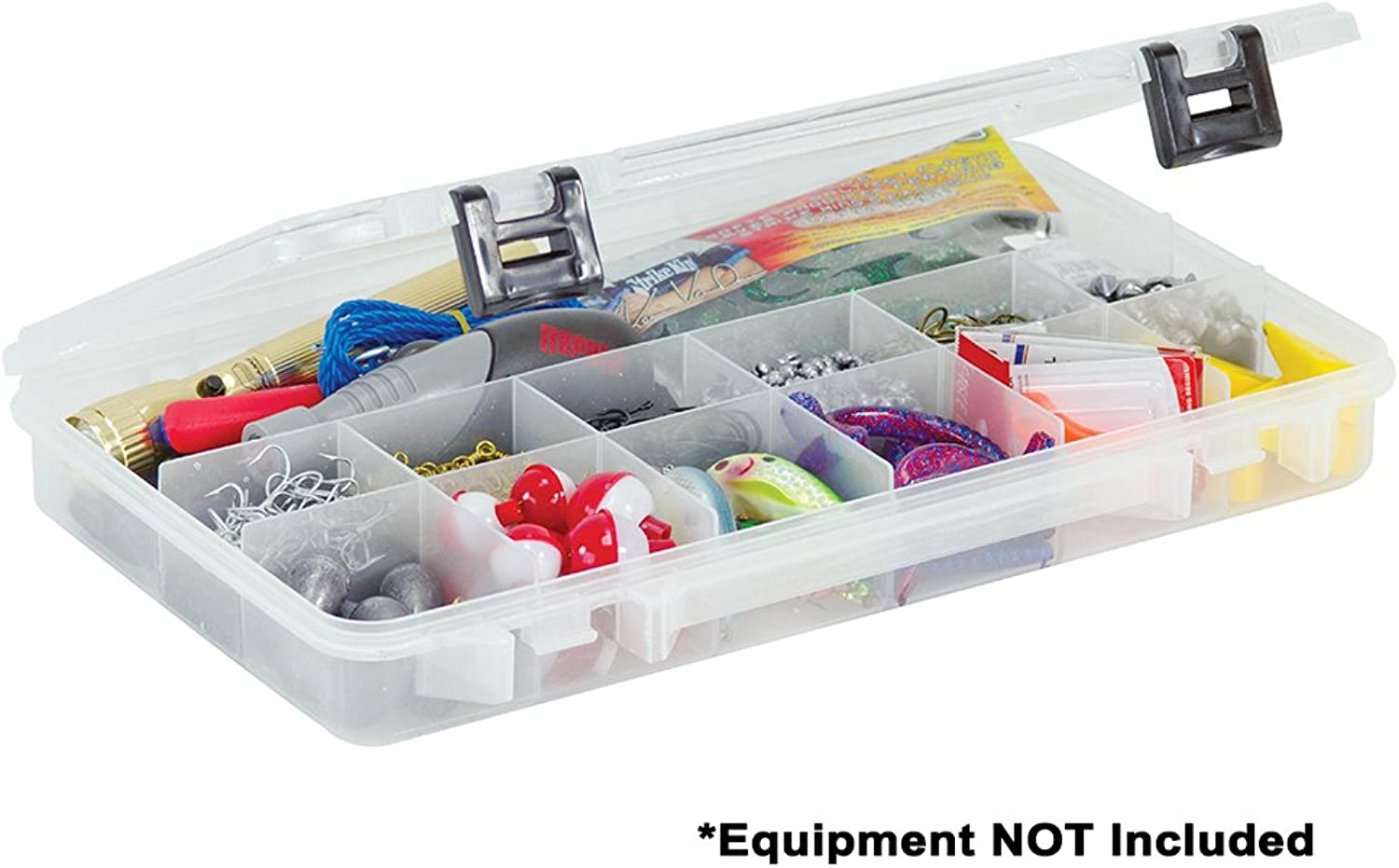 Plano 2371304 ProLatch 3700 Size Stowaway Boxes with 13 Fixed Compartments, Clear