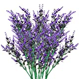6 Pezzi Lavanda Artificiale, Bouquet Artificiale di Fiori di Lavanda, Fiori Finti per Decorazioni, Fiori Artificiali per Cimitero, Pianta Artificiale, Fiori Decorativi