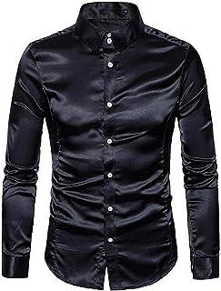 CBTLVSN Mens Slim Long Sleeve Dress Shirts Fitted Tuxedo Dress Shirts